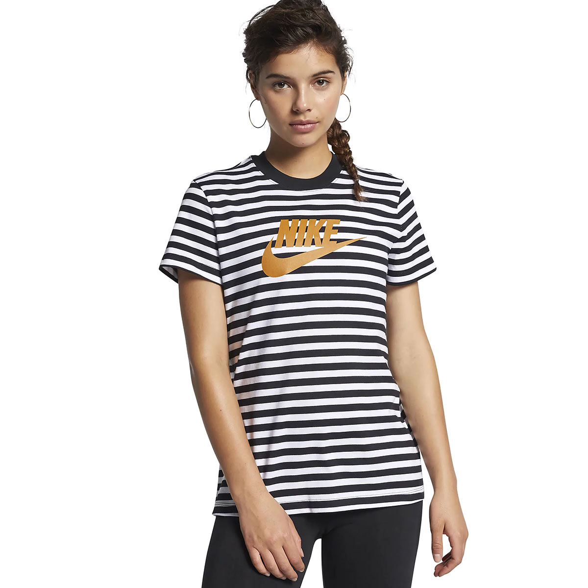 Top La Kadın Çok Renkli Günlük Stil Tişört CD4145-100 1122444
